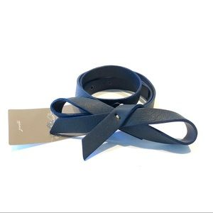 Anthropologie Black Sloucy Leather Bow Belt